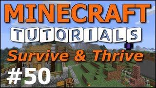 getlinkyoutube.com-Minecraft Tutorials - E50 Iron Golem Sentry (Survive and Thrive II)