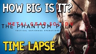 How Big Is MGSV? | A Time Lapse Walk Across the Kabul Province, Angola–Zaire & Mother Base  | #39