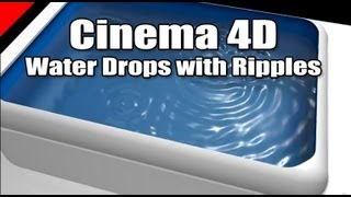 getlinkyoutube.com-Cinema 4D Create Water Drops With Splash Ripples Lesson