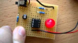 getlinkyoutube.com-NE555N Timer - LED with Buzzer on PCB