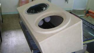 "getlinkyoutube.com-Sony Xplod 10"" subwoofers ported box @ 35 Hz"
