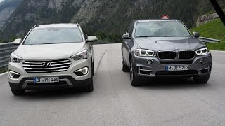 getlinkyoutube.com-BMW X5 vs. Hyundai Grand Santa Fe - GRIP - Folge 315 - RTL2
