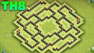 Clash of Clans - TH8 Defence Base (Town Hall 8 Trophy Base) The Bagua 2016 + Replays
