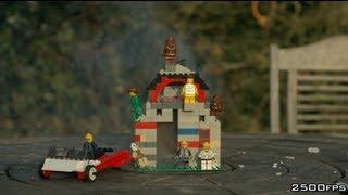 getlinkyoutube.com-Day 3 -  Exploding Lego House - The Slow Mo Guys