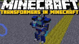 getlinkyoutube.com-Minecraft: Transformers Mod (Transformer Tanks, Planes and Cars) Mod Showcase