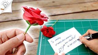 getlinkyoutube.com-How To Make Paper Flower Valentine Gift Ideas