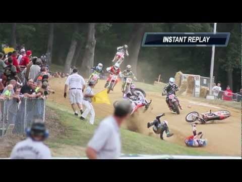 Scary Peoria TT Pro Singles Three Rider Crash