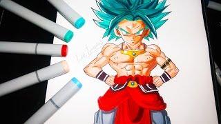 getlinkyoutube.com-COMO DIBUJAR A KAROLY DIOS AZUL (GOKU ,BROLY) PASO A PASO //How To Draw Karoly Goku   Broly