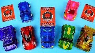 getlinkyoutube.com-MeCard car toys - Turning MeCard transformers cars - ToyPudding