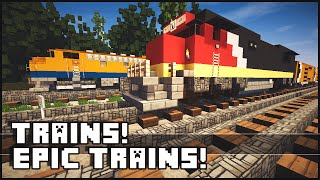 getlinkyoutube.com-Minecraft - Epic Trains!