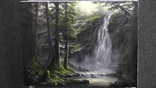getlinkyoutube.com-Paint with Kevin Hill - Misty Forest Waterfall