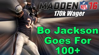 getlinkyoutube.com-99 Overall Bo Jackson Goes For 100+ In 180k Coin Game | Madden 16 Ultimate Team Gameplay