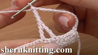 How To Make Crochet Upside Down Y Stitch Tutorial 20 Double Treble Posts