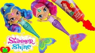 Shimmer and Shine Color Changing Mermaids Dive for Surprises