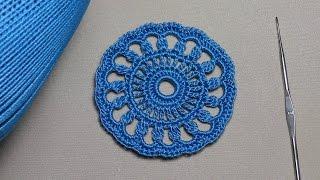 Как связать ажурный мотив круг - вязание крючком для новичков - Education crochet