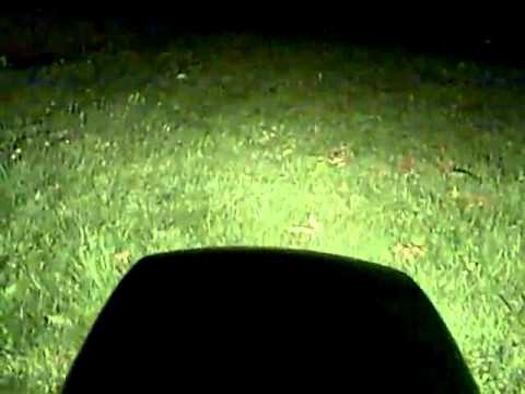 night time grass cutting