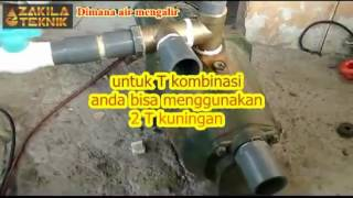 getlinkyoutube.com-Modifikasi pompa air semi jet merk shimizu 108 menjadi jetpump