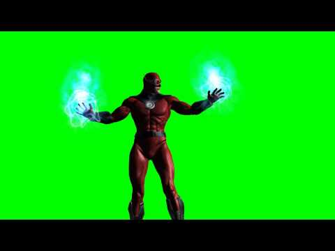 superhero generated energy field - green screen effects