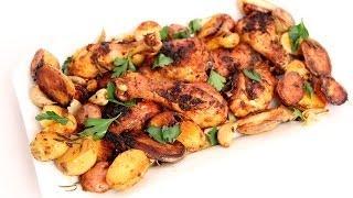 getlinkyoutube.com-One Pan Roasted Chicken & Potatoes Recipe - Laura Vitale - Laura in the Kitchen Episode 761