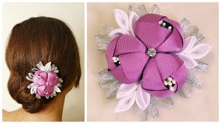getlinkyoutube.com-DIY ribbon flower I Kanzashi flower tutorial