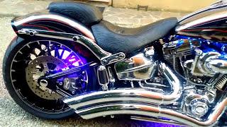 getlinkyoutube.com-Harley Davidson Breakout CVO Vance Hines Sound