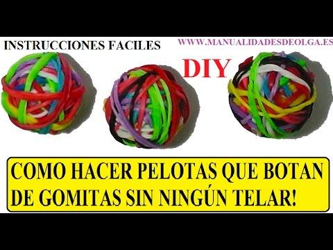 COMO HACER PELOTAS QUE BOTAN 3D FACILES CON GOMITAS SIN TELAR