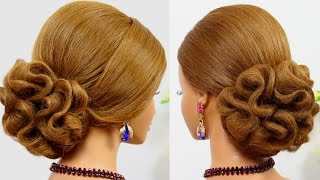 getlinkyoutube.com-Wedding prom hair tutorial for medium hair. Updo hairstyles
