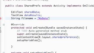 getlinkyoutube.com-Android Application Development Tutorial - 95 - Saving Data with SharedPreferences