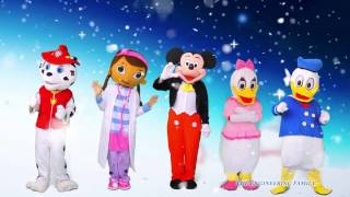 getlinkyoutube.com-MICKEY MOUSE  Winter Games With  Paw Patrol Doc +  Mcstuffins + Donald Duck In Real Life Video