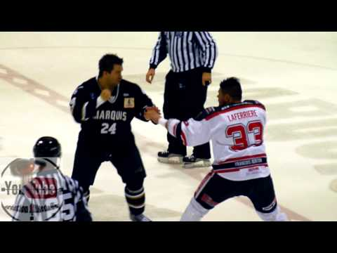 hochey fight Roch vs Laffy 18 avril 2014 LNAH