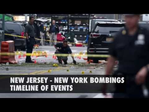New Jersey - New York bombings: Timeline of events