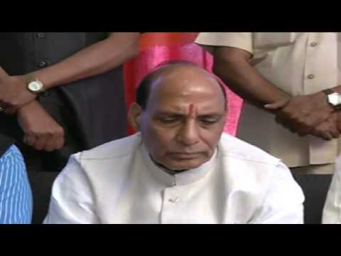 Shri Rajnath Singh Press Conference in Gurdaspur, Punjab 19th April 2014