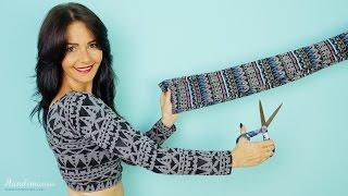 getlinkyoutube.com-One cut leggings crop top