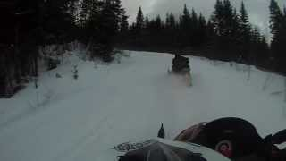 getlinkyoutube.com-Snowmobiling Pittsburgh, New Hampshire February 2013
