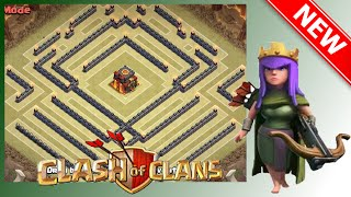 "getlinkyoutube.com-NEW Cool TH10 War Base ""Pulsifier"" Anti-Gowipe, Gowiwi And Mass Golem Attacks 
