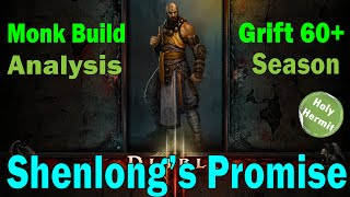 Diablo 3 Monk Build Analysis - Shenlong's Promise (Grfit 57+)