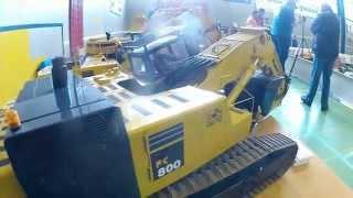 getlinkyoutube.com-scale digger crane dumper trackloader komatsu Volvo  Caterpillar 365 tamiya  radio control