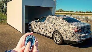 getlinkyoutube.com-BMW Self Parking Car By Remote BMW 7er 2016 Commercial HD CARJAM TV New BMW 7 Series G11 G12 2016