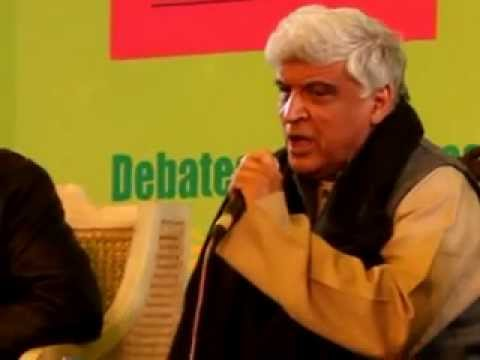 Javed Akhtar in Jaipur Literary Fest 2012