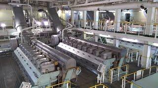 getlinkyoutube.com-Engine room of LNG vessel with Electric Propulsion (DFDE)