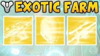 Destiny: EXOTIC ENGRAM FARMING TUTORIAL! How To Farm Exotic Engrams (Easy Exotics Three of Coins)