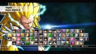getlinkyoutube.com-Dragon Ball Raging Blast 2- All Characters & Transformations