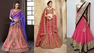 getlinkyoutube.com-5 Gorgeous Ways To Wear A Lehenga Saree To Look Slim|How To Wear Lehenga Dupatta In Different Styles