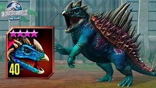 getlinkyoutube.com-NEW HYBRID NUNDAGOSAURUS MAX LVL 40! - Jurassic World The Game - *GLACIER UPDATE* HD