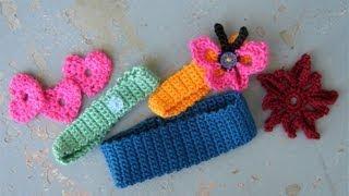 getlinkyoutube.com-How to crochet a basic headband or hairband, easy