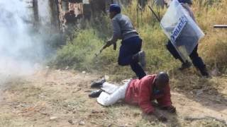 getlinkyoutube.com-Zimbabwe - Harare - Latest Protests - Story covered by Irwin Chifera.