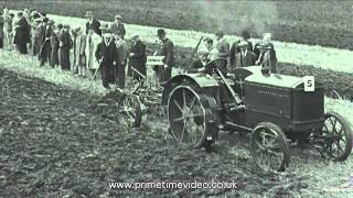 getlinkyoutube.com-Tractor Trials archive video from the 1930s - old film of working machines