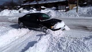 "getlinkyoutube.com-Slammed 300hp Audi A4 Quattro vs 15"" of snow"