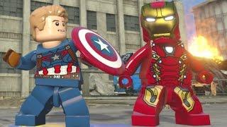getlinkyoutube.com-LEGO Marvel's Avengers - All Civil War DLC Free Roam (Black Panther, Crossbones, Mark 46, etc)