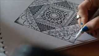 getlinkyoutube.com-'Mandala' Speed Drawing ll Time-Lapse ll